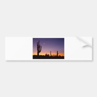 Early Morning Southwest Desert Moon Glow Bumper Sticker