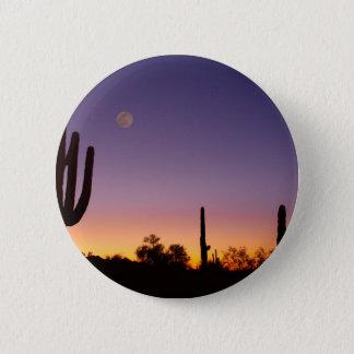 Early Morning Southwest Desert Moon Glow Button