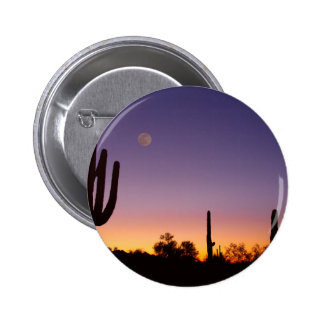 Early Morning Southwest Desert Moon Glow Button