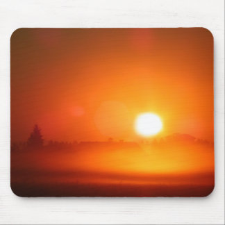 Early morning sun mouse pad