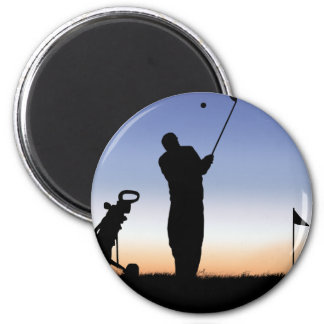Early Morning Tee Time 2 Inch Round Magnet