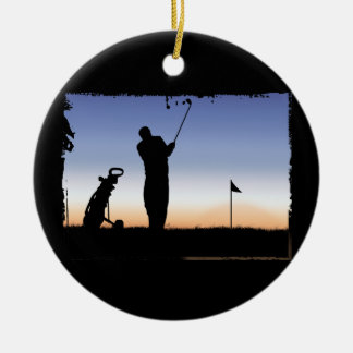 Early Morning Tee Time Christmas Ornament