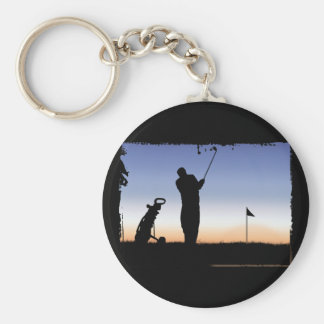 Early Morning Tee Time Basic Round Button Keychain