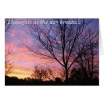 Early Morning Thoughts Greeting Card