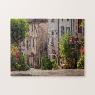 Early morning view down street jigsaw puzzle