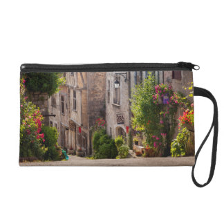 Early morning view down street wristlet