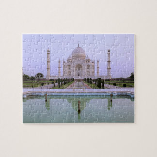early morning view of the Taj Mahal reflected in Jigsaw Puzzle
