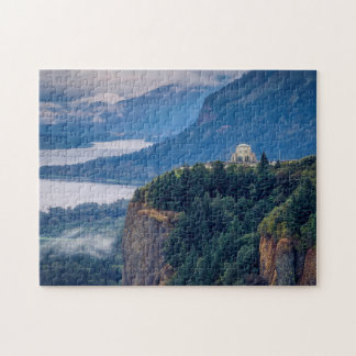Early Morning View Of Vista House At Crown Point Jigsaw Puzzle