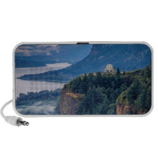 Early Morning View Of Vista House At Crown Point Travel Speakers