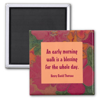 early morning walk 2 inch square magnet