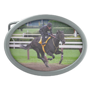 Early Morning Workouts at Saratoga Oval Belt Buckles
