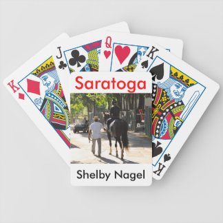 Early Morning Workouts at Saratoga Bicycle Playing Cards