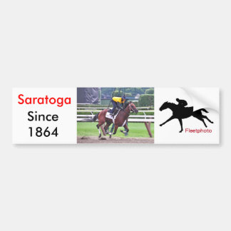 Early Morning Workouts at Saratoga Car Bumper Sticker