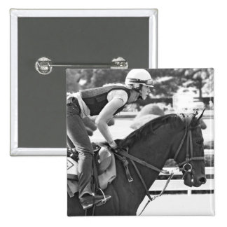 Early Morning Workouts at Saratoga Pinback Buttons
