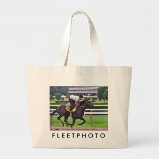 Early Morning Workouts at Saratoga Large Tote Bag