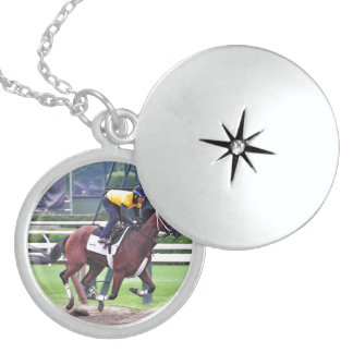 Early Morning Workouts at Saratoga Locket Necklace