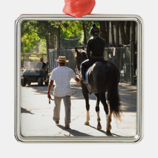 Early Morning Workouts at Saratoga Square Metal Christmas Ornament