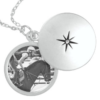 Early Morning Workouts at Saratoga Round Locket Necklace