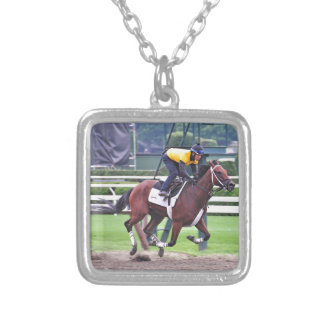 Early Morning Workouts at Saratoga Silver Plated Necklace