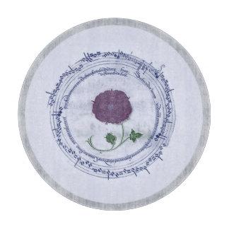 Early Music Manuscript Flower Cutting Board