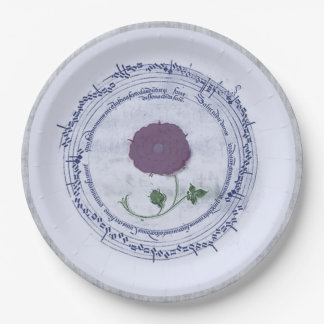 Early Music Manuscript Flower Paper Plate