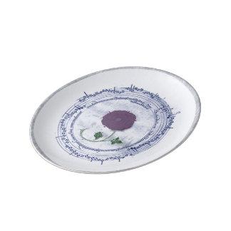 Early Music Manuscript Flower Plate
