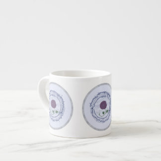 Early Music Manuscript Flower 6 Oz Ceramic Espresso Cup