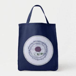 Early Music Manuscript Flower Tote Bag