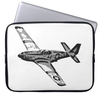 Early Mustang Fighter Laptop Computer Sleeve