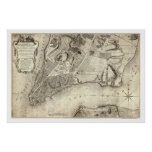 Early New York City Map 1776 Print