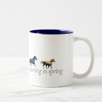 early one morning Two-Tone coffee mug