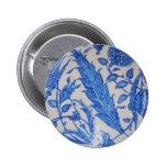 early Ottoman Iznik blue and white tile Button