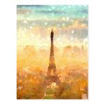 Early Paris Morning Postcard