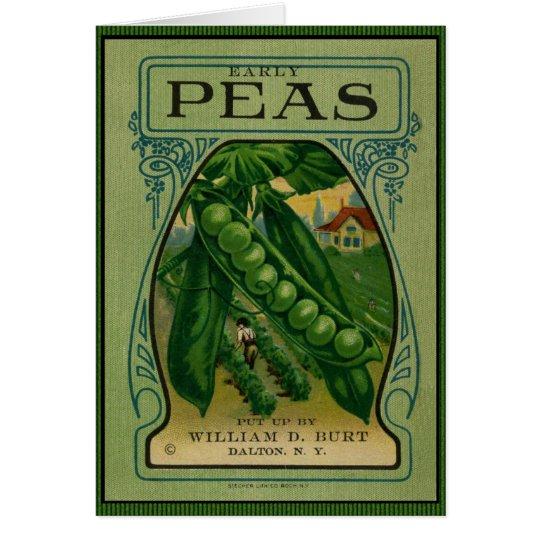 Early Peas Vintage Seed Packet Card