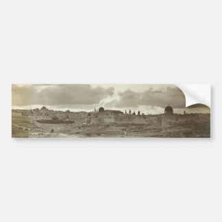 Early Picture of Jerusalem from the Southeast Bumper Sticker
