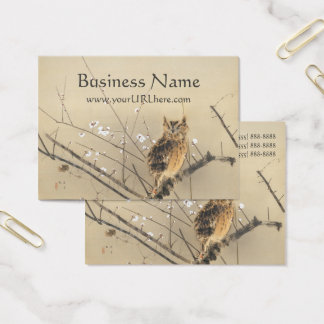 Early Plum Blossoms by Nishimura Goun, Owl Art Business Card
