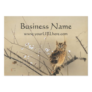 Early Plum Blossoms by Nishimura Goun, Owl Art Large Business Card