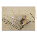 Early Plum Blossoms by Nishimura Goun, Vintage Owl Greeting Cards