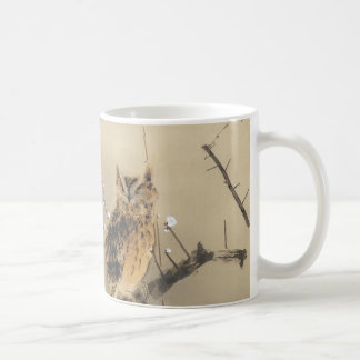 Early Plum Blossoms by Nishimura Goun, Vintage Owl Coffee Mug