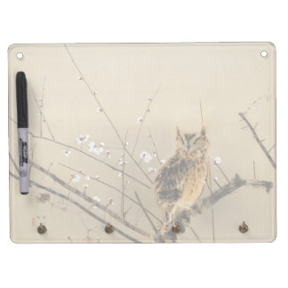 Early Plum Blossoms by Nishimura Goun, Vintage Owl Dry Erase Board With Keychain Holder