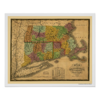 Early Railroad Map 1831 Poster