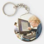 Early retirement keychain