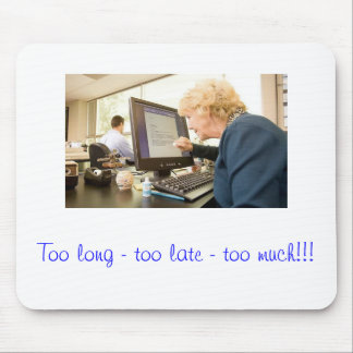 Early retirement mouse pad
