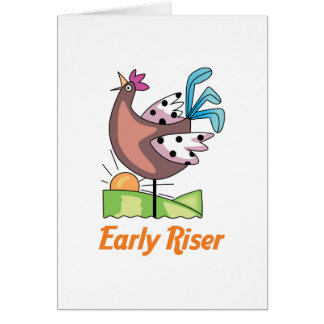 Early Riser Greeting Card