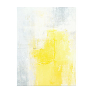 'Early Riser' Grey and Yellow Abstract Art Print