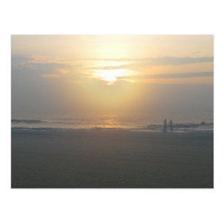 Early Risers--Sunrise on the Atlantic Postcard