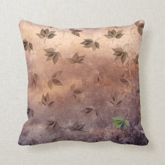 Early Rusty Autumn Melancholic Falling Leaves Pillow