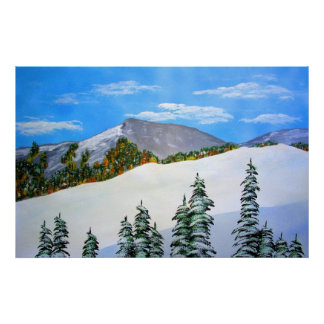 Early Snow in the High Sierra Print