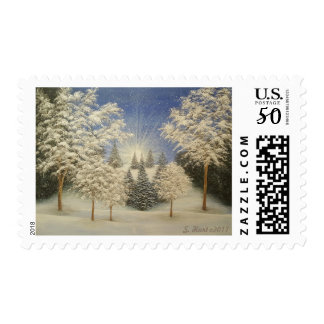 Early Snow Storm Postage