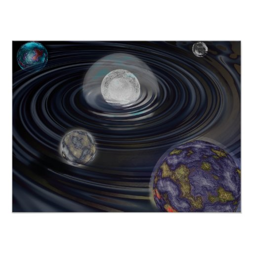 Early Solar System Illustration Poster